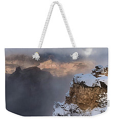 Weekender Tote Bag featuring the photograph Winter At The Grand  Canyon by Sandra Bronstein