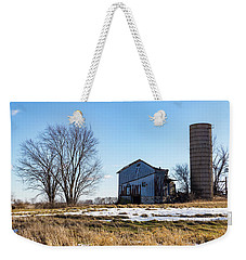 Weekender Tote Bag featuring the photograph Winter Barn by Kathleen Scanlan