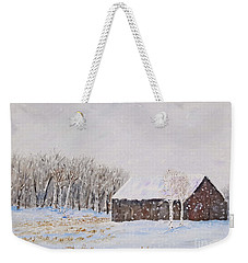 Winter Barn Weekender Tote Bag by Stanton Allaben
