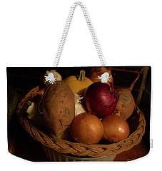 Winter Basket Weekender Tote Bag