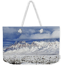 Weekender Tote Bag featuring the photograph Winter Beauties Organ Mountains by Kurt Van Wagner