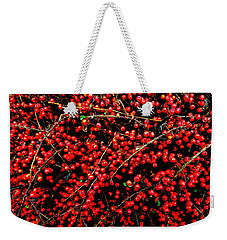 Winter Berries Weekender Tote Bag