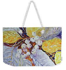 Weekender Tote Bag featuring the painting Winter Berries by Joanne Smoley