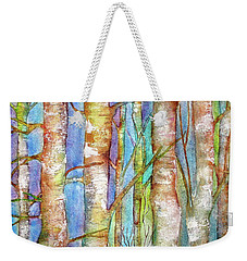 Winter Birch Weekender Tote Bag