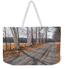 Winter Birches Weekender Tote Bag