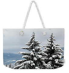Weekender Tote Bag featuring the photograph Winter Bliss by Will Borden