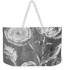 Weekender Tote Bag featuring the digital art Winter Bloom II by Robin Maria Pedrero