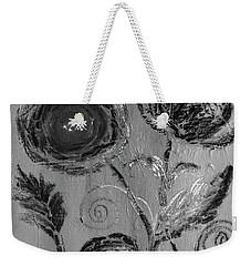 Weekender Tote Bag featuring the digital art Winter Blooms IIi by Robin Maria Pedrero