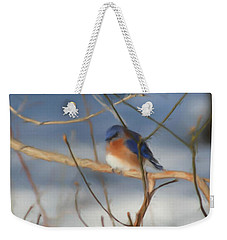Winter Bluebird Art Weekender Tote Bag
