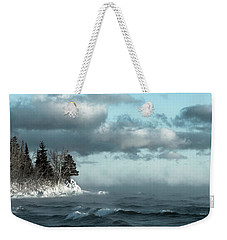 Winter Blues Weekender Tote Bag by Mary Amerman