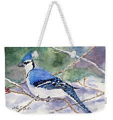 Winter Blues Weekender Tote Bag