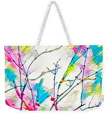 Winter Branch Colors Weekender Tote Bag