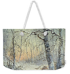Winter Breakfast Weekender Tote Bag