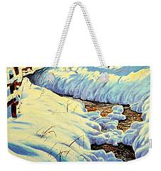 Winter Brook Weekender Tote Bag