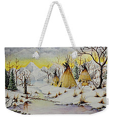 Winter Camp Weekender Tote Bag by Jimmy Smith
