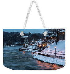 Weekender Tote Bag featuring the photograph Winter Canal Walk by Everet Regal