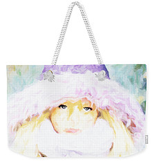 Weekender Tote Bag featuring the painting Winter  by Chris Armytage