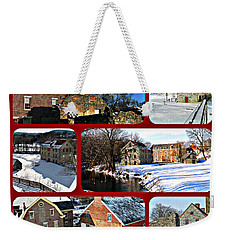 Weekender Tote Bag featuring the photograph Winter - Colonial Industrial Quarter by Jacqueline M Lewis