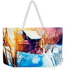 Weekender Tote Bag featuring the painting Winter Color by Hanne Lore Koehler