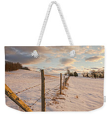 Winter Countryside Weekender Tote Bag