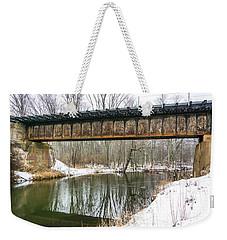 Winter Crossing  Weekender Tote Bag