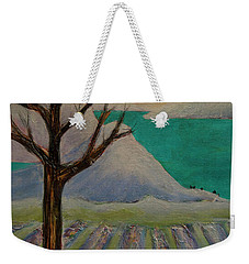 Weekender Tote Bag featuring the painting Winter Crows by Jeanette French