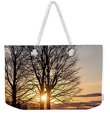 Weekender Tote Bag featuring the photograph Winter, Crystal Spring Farm, Brunswick, Maine -78592 by John Bald