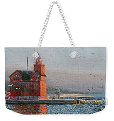 Winter Day At Big Red Weekender Tote Bag