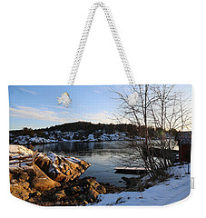 Winter Day By The Oslo Fjords, Norway.  Weekender Tote Bag