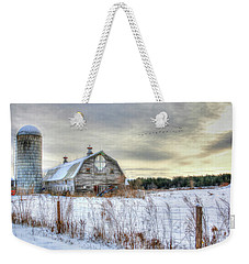 Winter Days In Vermont Weekender Tote Bag