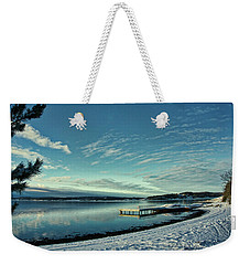Winter Dock Weekender Tote Bag