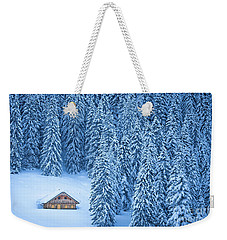 Winter Escape Weekender Tote Bag by JR Photography