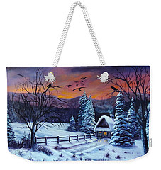 Winter Evening 2 Weekender Tote Bag by Bozena Zajaczkowska