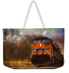 Winter Evening Union Pacific Train Weekender Tote Bag