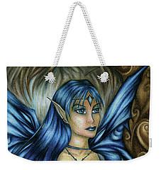 Winter Fairy Drawing Weekender Tote Bag