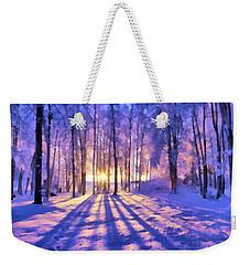 Winter Fairy Tale Weekender Tote Bag