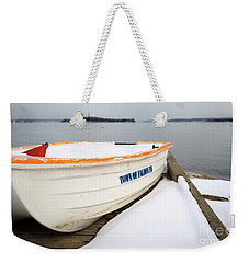 Winter, Falmouth, Maine  -18674 Weekender Tote Bag