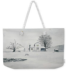 Winter Farm 2 Weekender Tote Bag by Christine Lathrop
