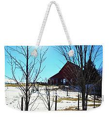 Winter Farm House Weekender Tote Bag