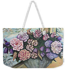 Winter Flowers Weekender Tote Bag