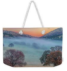 Winter Fog At Sunrise Weekender Tote Bag