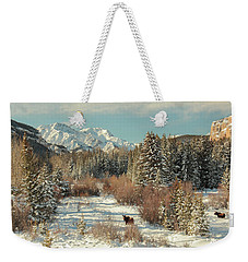 Wyoming Winter Weekender Tote Bag