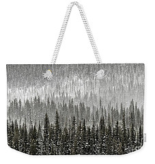 Winter Forest Weekender Tote Bag by Brad Allen Fine Art