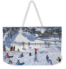 Winter Fun Weekender Tote Bag by Andrew Macara