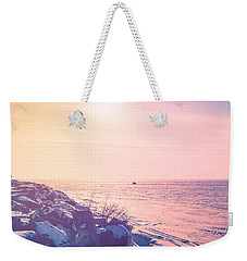 Weekender Tote Bag featuring the photograph Winter Fun by Joel Witmeyer