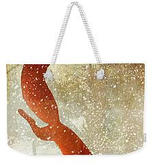 Winter Game Fox Weekender Tote Bag by Mindy Sommers
