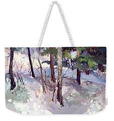 Winter Garden Plein Air Weekender Tote Bag