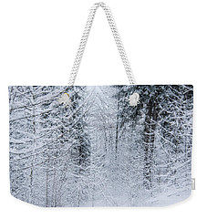 Weekender Tote Bag featuring the photograph Winter Glow- by JD Mims