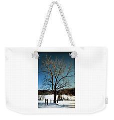 Weekender Tote Bag featuring the photograph Winter Glow by Karen Wiles