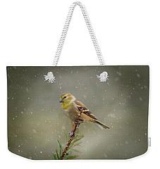 Winter Goldfinch Weekender Tote Bag